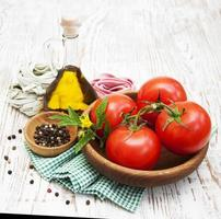 ingredientes para pasta italiana foto