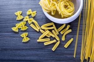 Dry pasta photo
