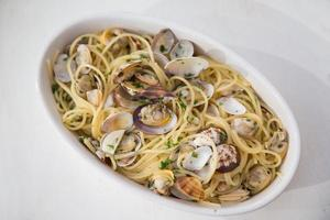 Spaghetti wit clams photo