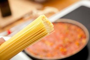 spaghetti voor saus bolognese