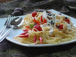 pasta plate photo