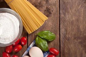 Ingredients for preparing a meal.