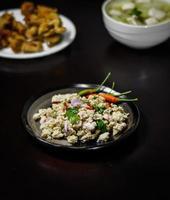 pork meat spicy salad photo