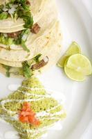 Flash Fried corn Taco with Beef strips photo