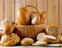 Different types of bread . photo