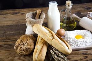 Breads in basket photo