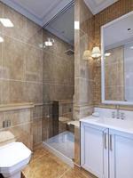 estilo art deco do banheiro