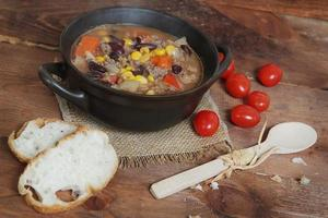 Traditional Hungarian hot goulash soup