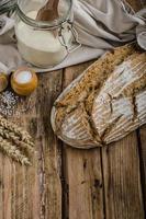Homemade sourdough bread photo