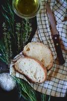 Fresh baked ciabatta bread photo