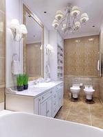 baño luminoso estilo clásico foto