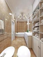 elegante diseño de baño provenzal foto