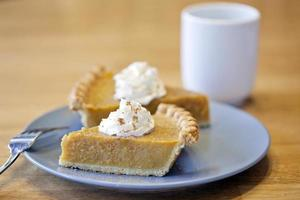 Pumpkin Pie Slices with Coffee Cup