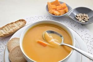 Pumpkin squash soup. photo