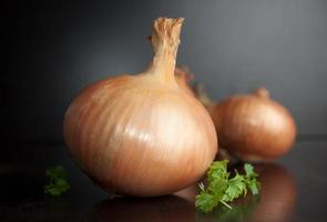 Organic onion photo