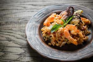 Seafood paella photo