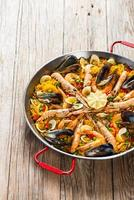Paella with seafood photo
