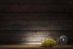 Glass and grape photo