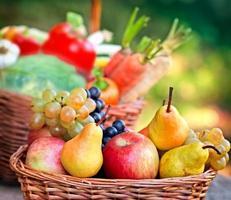 Organic fruits photo