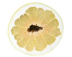 Half of pomelo isolated on white with clipping path