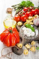 fondo de comida italiana foto
