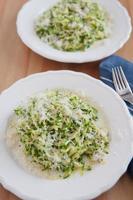 Zucchini Pasta Noodles with pesto photo