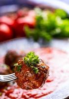 bolas de carne. cozinha italiana e mediterrânea. bolas de carne com s