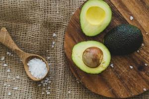 Avocado on the table photo