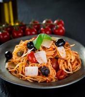 Italian pasta putanesca