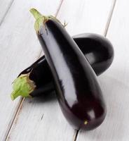 Two eggplants photo