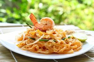 Pad thai shrimp.