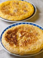 Two Spanish omelettes