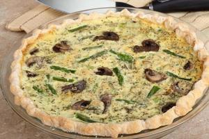 Asparagus Mushroom Quiche
