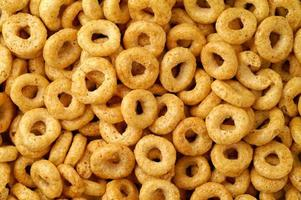 Cereal donuts background photo