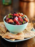 sweet and spicy berry salsa