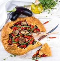 Eggplant pie with peppers