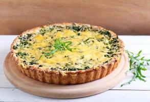 Savory green tart