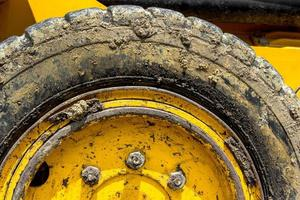 Tire bulldozer photo
