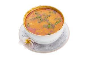 Thai famous soup Thom Yam photo