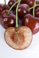 Ripened cherries, red pulp.
