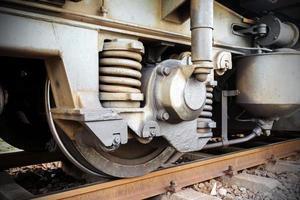 Train wheels photo