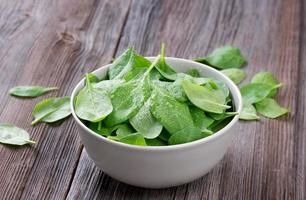 Fresh spinach in bowl