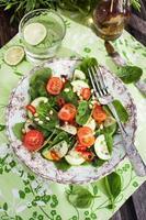 Healthy fresh spring salad photo