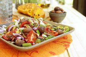 spring salad with cheese feta