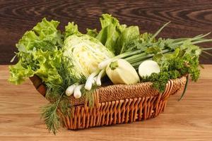 Fresh green vegetables photo