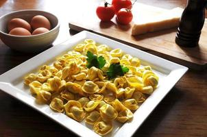 Italian ravioli with ricotta and vegetables photo