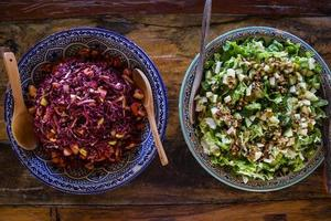 Healthy Cabbage and Green Salad