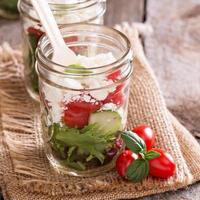 Salad in mason jars