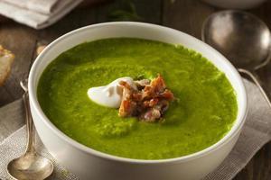 Homemade Green Spring Pea Soup photo