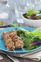 Turkey kebabs with mustard sauce